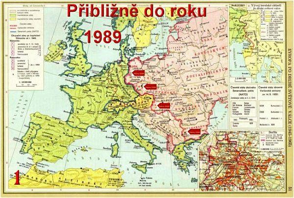 Mapa Rvropy cca 1989