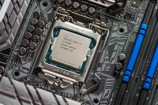 Socket a procesor Intel Core i7.