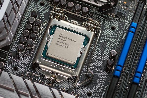 Socket a procesor Intel Core i7.